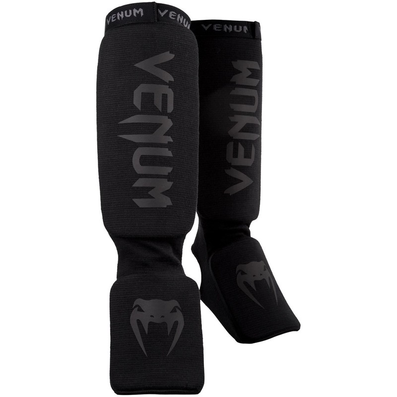 Venum Kontact Shinguards-Black|Black