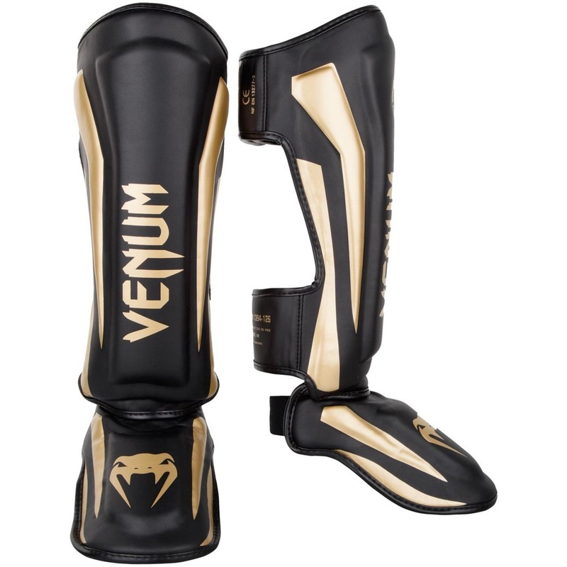 Venum Elite Standup Shinguards - Black|Gold