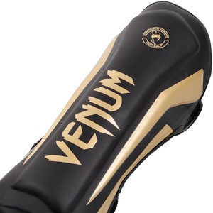 Venum Elite Standup Shinguards - Black-Gold