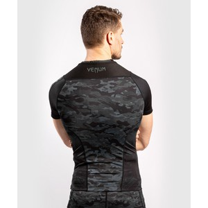 Venum Defender Rashguard Short Sleeves- dark camo