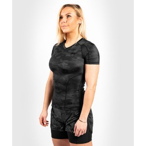 Venum Women Defender Rashguard Short Sleeves- schwarz