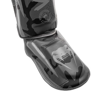 Venum Elite Standup Shinguards - Black-Dark Camo
